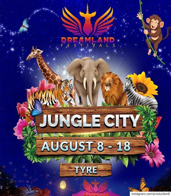 Jungle City is moving to Tyre as part of @dreamlandfestivals starting on ... (Tyre, Lebanon)