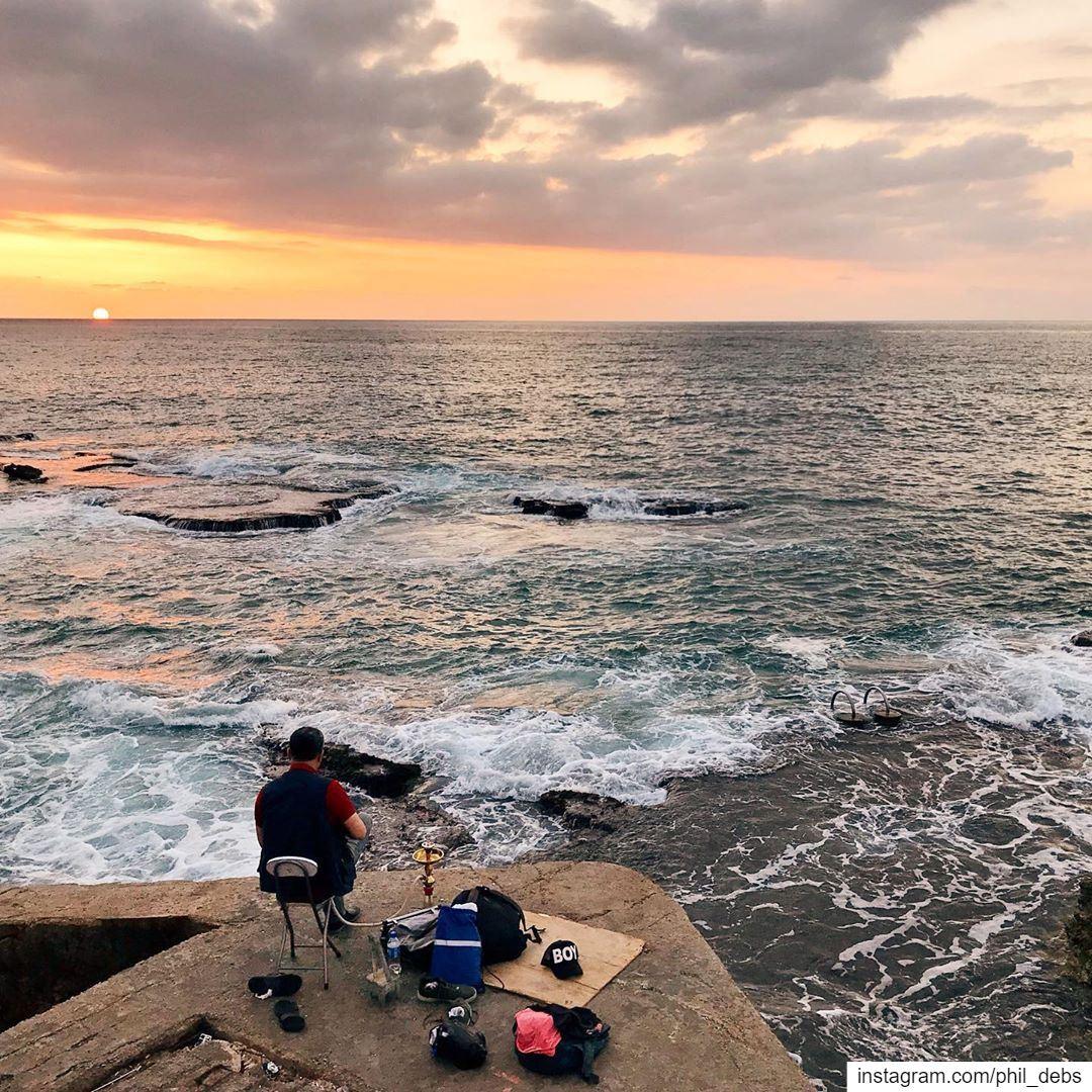 •Narghilè & Sunset• lebanon seaside igerslebanon discover_vacations ... (Beirut, Lebanon)