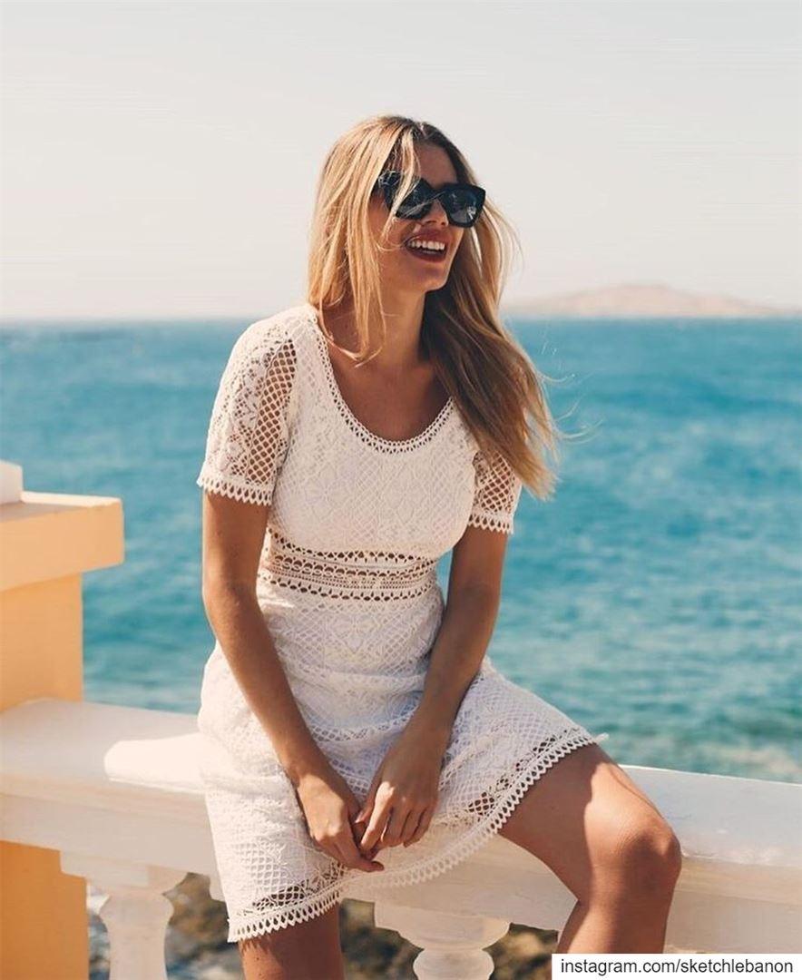 Little white dress for a more summer days vibe @sketchlebanon ... (Er Râbié, Mont-Liban, Lebanon)
