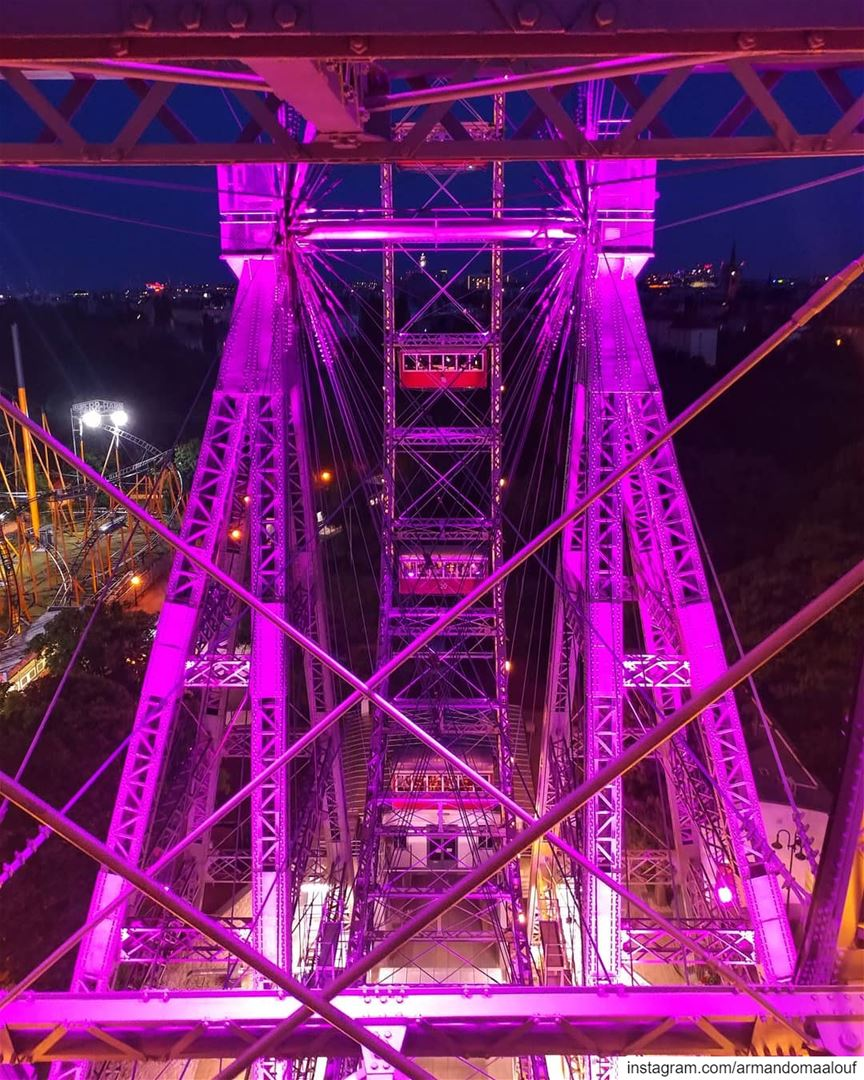 Life is like a ferris wheel. One minute you're on top, the next you're at... (Wiener Riesenrad)