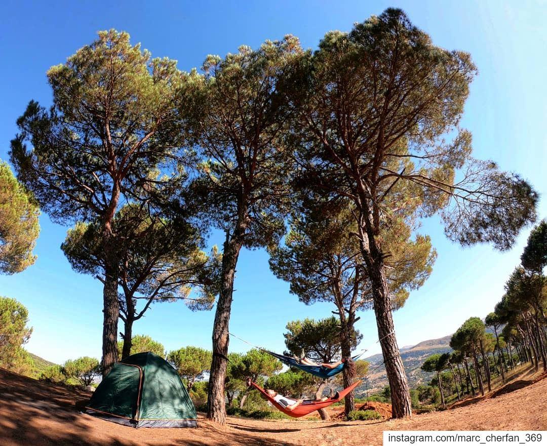 GoodMorningLebanon 😎🙌 Camping Hammock Chill Relax MorningVibes ... (Baskinta, Lebanon)