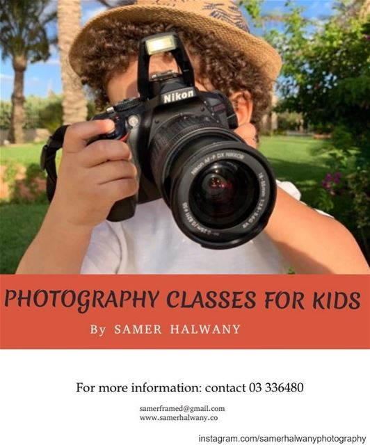 Kids photohraphy class...Let your kids dicover the world around them...
