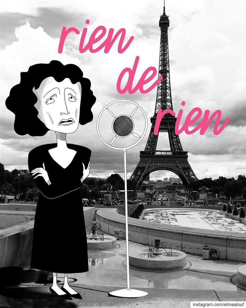 - 🎶Je repars à zéro 🎶-..... edithpiaf liveloveparis art_help ... (Paris, France)