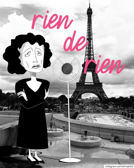 ‎- 🎶Je repars à zéro 🎶-..... edithpiaf liveloveparis art_help ... (Paris, France)