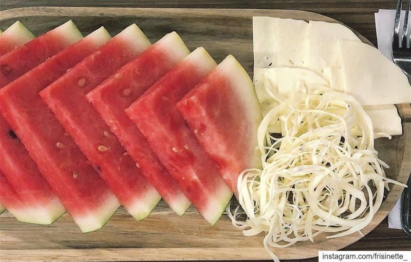 🍉summer vibes🍉 cheese fetta health zaatar lebanesebreakfast ... (Lylac)