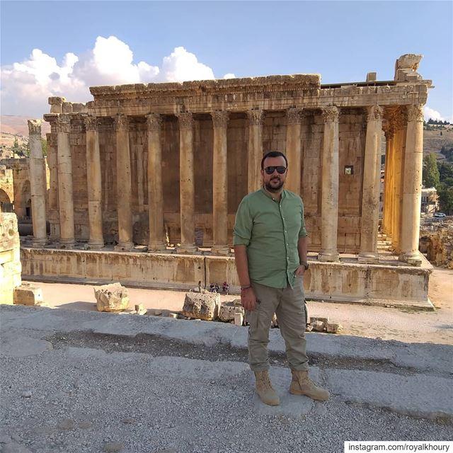 When visiting baalbek royalkhoury pepejeans pepejeanssunglasses ... (Baalbek , Roman Temple , Lebanon)