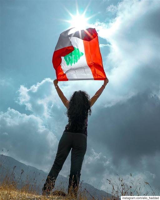 Lebanon  Sky  Flag  Clouds  Blue  Colors  Top  Mountains  Sun  Summer ... (Mount Sannine)