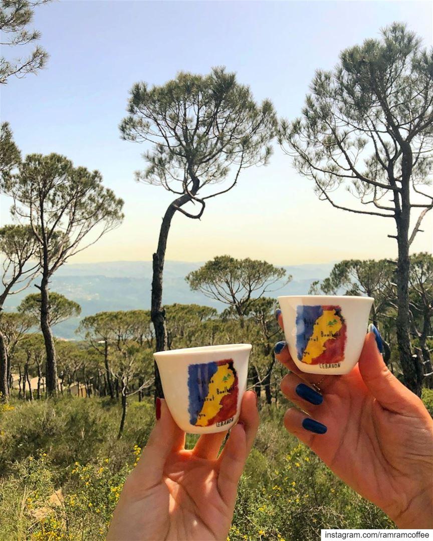 Cheers to more coffee together 👯... ramramcoffee turkishcoffee ... (Dhour choueir)