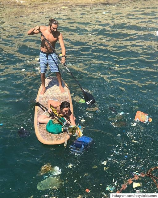 """We are using our trash to clean our trash."" @monaelhallak. Here, raising..."