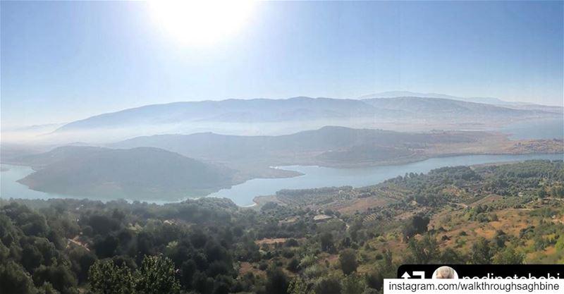 repost @nadinetahchi・・・Saghbine ☀️ lake nature trees sky sun ... (Saghbin, Béqaa, Lebanon)