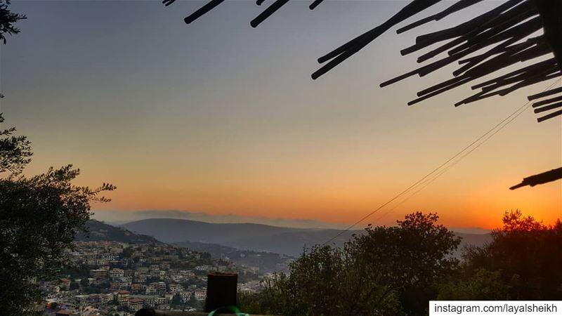 sunsets hasbayasunset livelovelebanon❤️ livehasbayalove ... (Hasbayya, Al Janub, Lebanon)