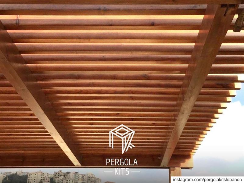 Wood Maintenance Pergola Kit. PergolaKitsLebanon in Ain El Rihani📍... (Ain el-Rihaneh)