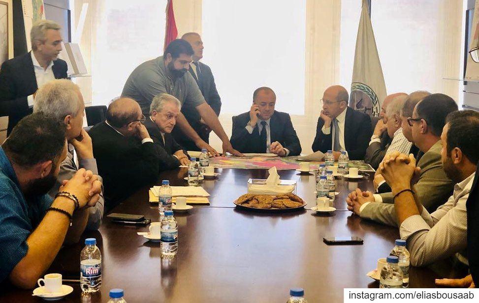 إجتماع ضم النائب @Alain jaoun مع وفد من أهالي منطقة بعبدا اللويزة، جرى فيه...
