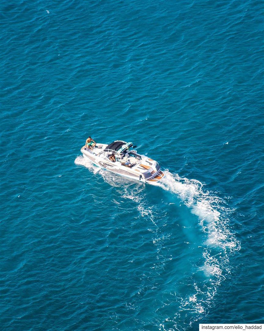 Morning ☀️🌊 Lebanon 🇱🇧 Season Morning Sun Blue Sea Beach Blue ... (Hamat)