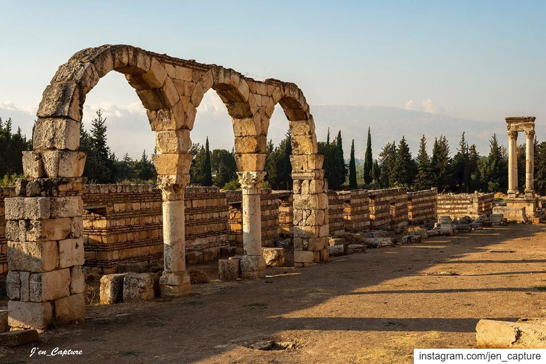 Anjar, formerly known as Gerrha, a stronghold built in the 8th century by... (`Anjar, Béqaa, Lebanon)
