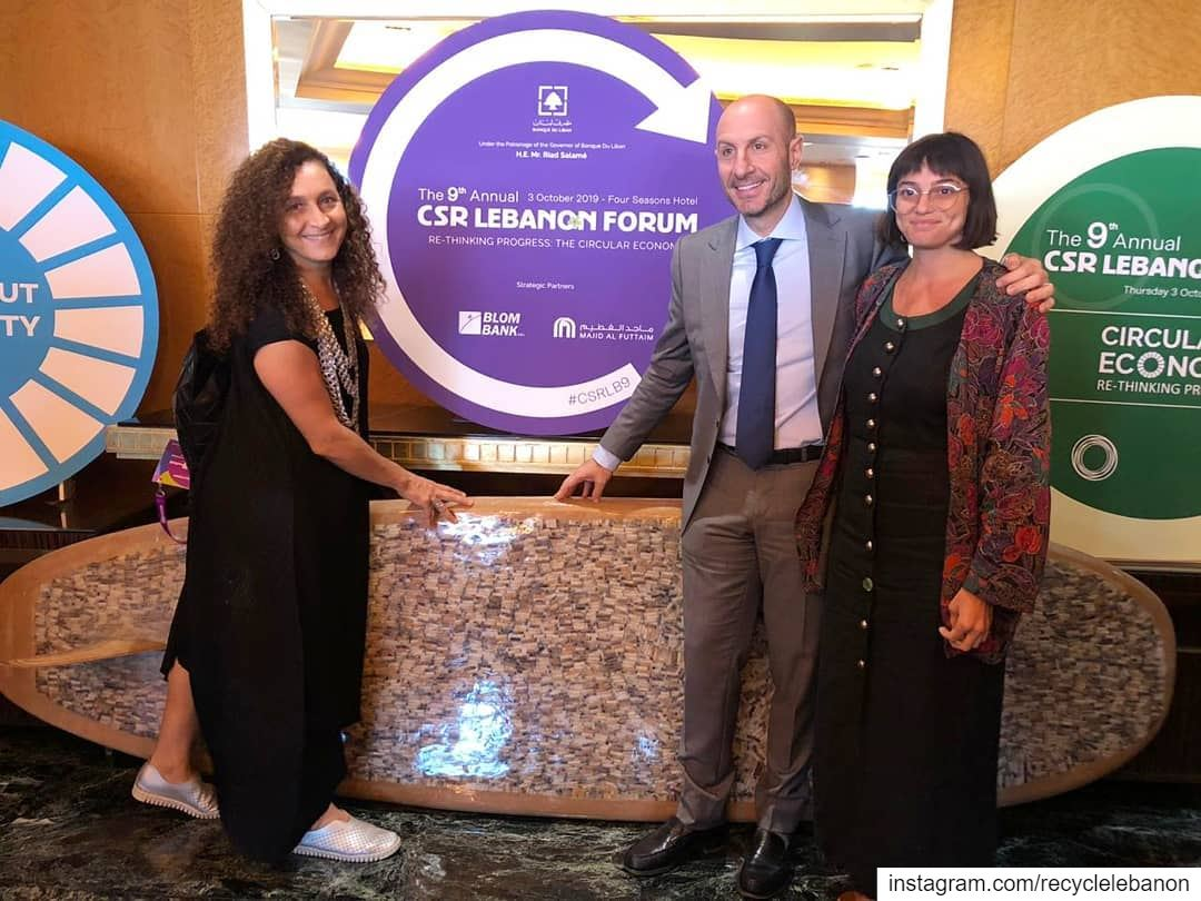 At the 9th @csrlebanon Forum with H E Minister of Environment @jreissatifad