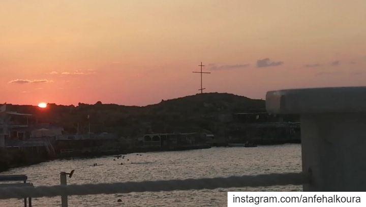 ANFEH SUNSET ♥️ summer2019@tahetelrih_anfehalkoura visittahetelrih ... (Anfeh Al-Koura أنفه الكورة)