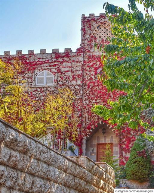 I'm in love with the shades of autumn in Ehden 🍂💚🍁♥️🍃... (Ehden, Lebanon)