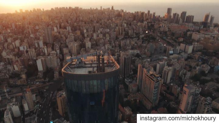 Diving Lebanon's tallest building .... Lebanon fromwhereidrone fpv ... (Lebanon)