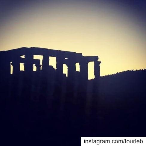 Sunset on a beautiful remote roman temple... tourleb tourlebanon ... (Al Manara, West Bekaa)