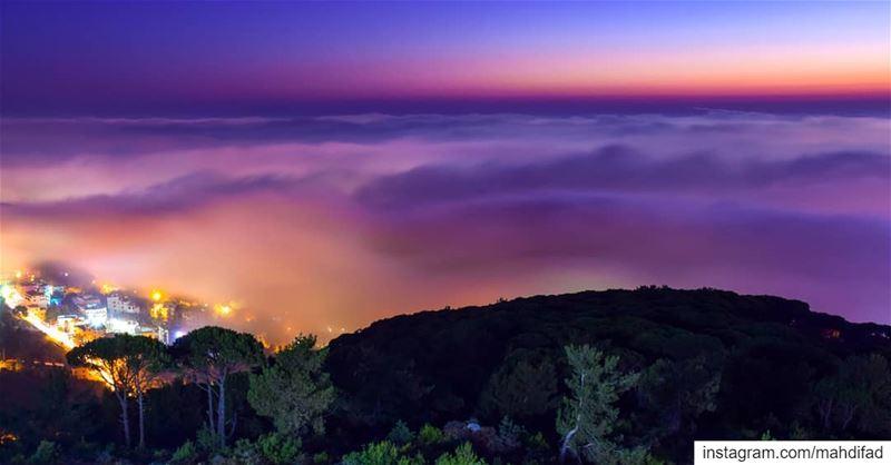 Sunset pysglb kayfun mountains clouds lebanon photography... (Kayfun, Mont-Liban, Lebanon)