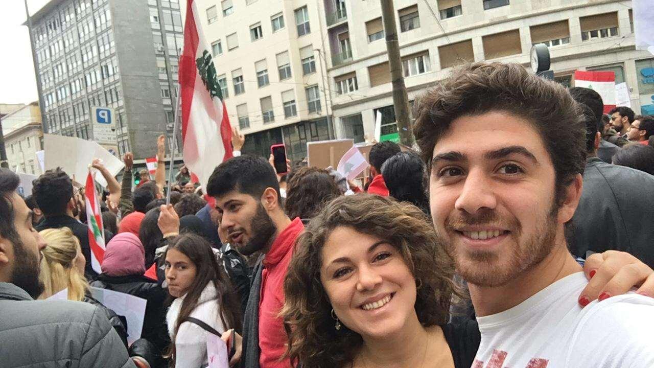 ميلانو إيطاليا - لبنان ينتفض