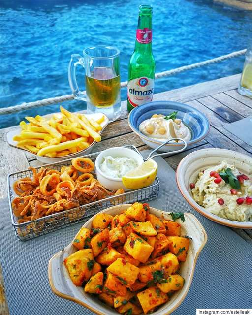 End of summer essentials 🍟🍺 ... (Beirut, Lebanon)