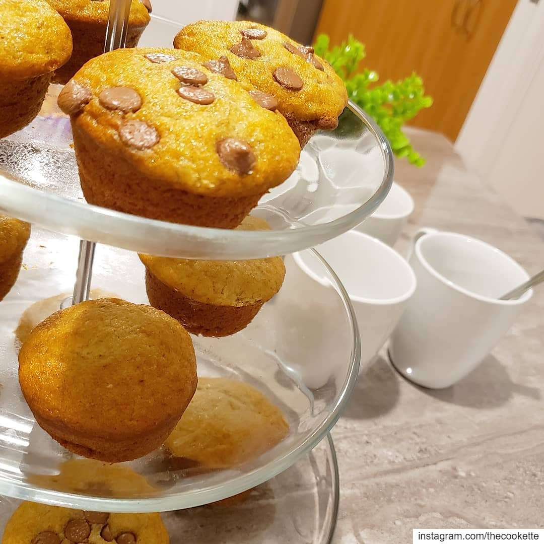 Favorite homemade dessert is banana bread or banana muffins with chocolate...