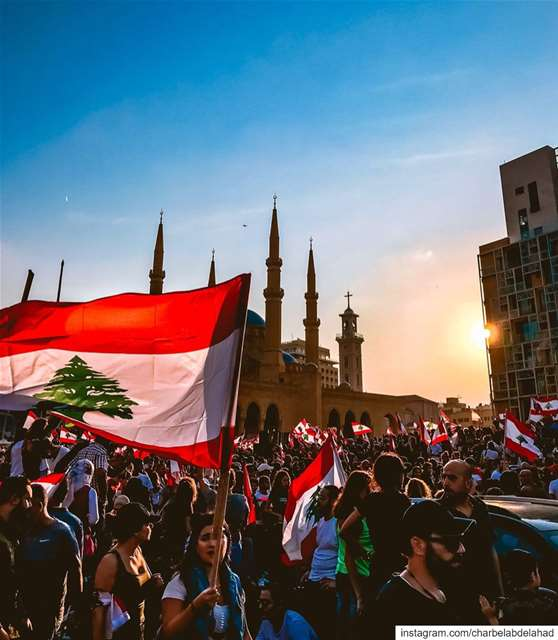 We, Lebanese People, are re-writing our history, by re-defining REVOLUTION... (Martyrs' Square, Beirut)