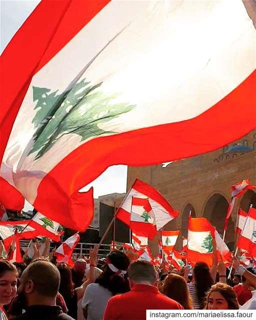 والشعب هوّي بيصير القوّةما بيقبل ظالم ولا استعباد لبنان_يثور لبنان_ينت (Beirut, Lebanon)