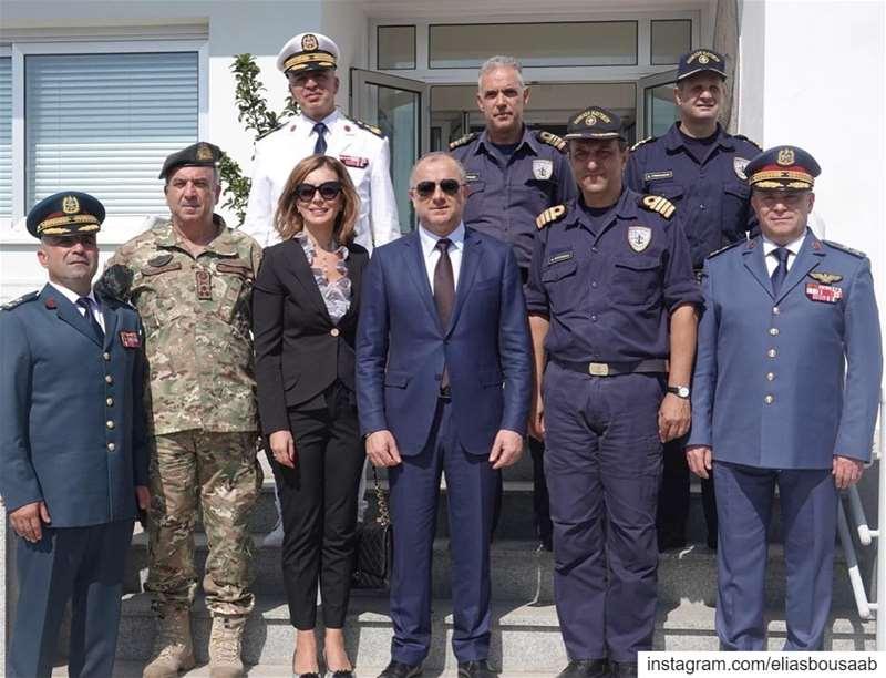 زيارة الى القاعدة البحرية القبرصية ايفانجيلوس فلوراكيس، تلاها زيارة الى ال