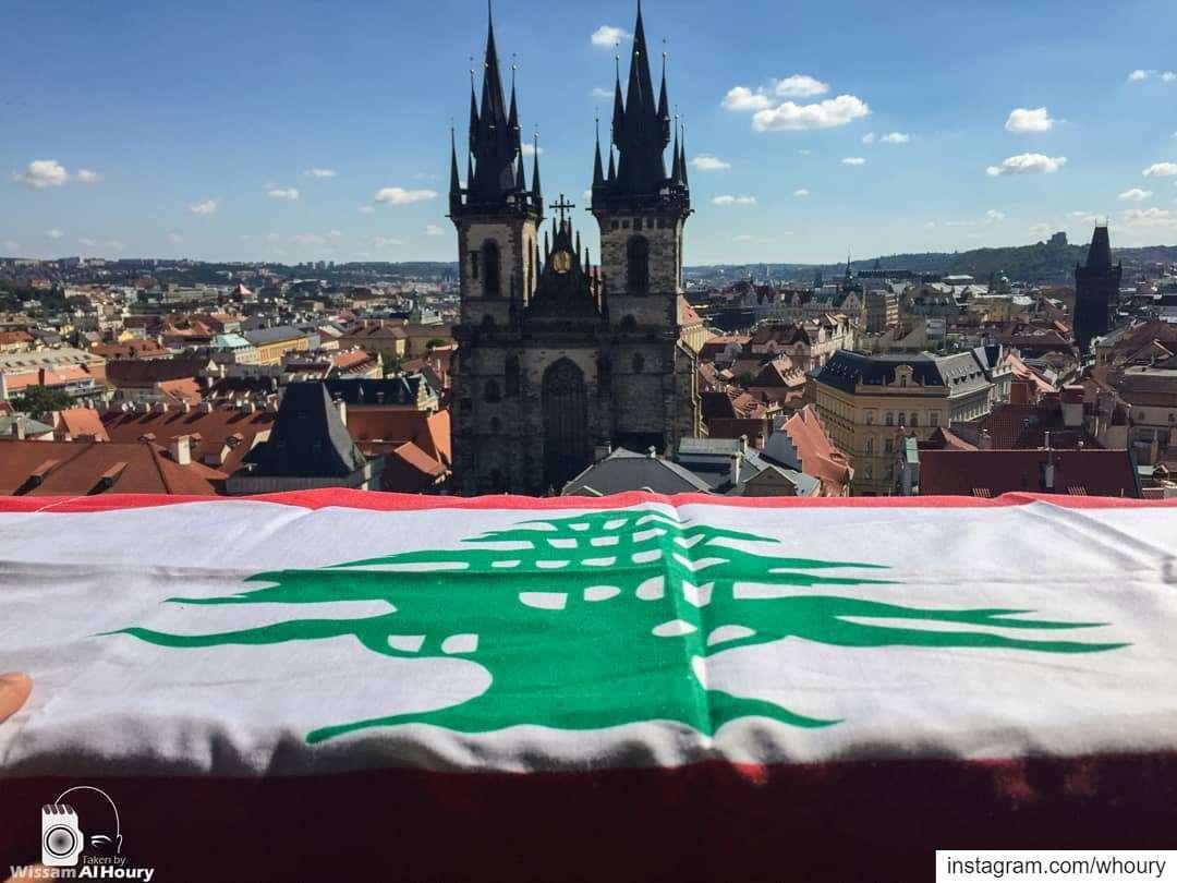 mylebanon lebanon myflag ourflag lebaneseflag beirut prague... (St. Vitus Cathedral)