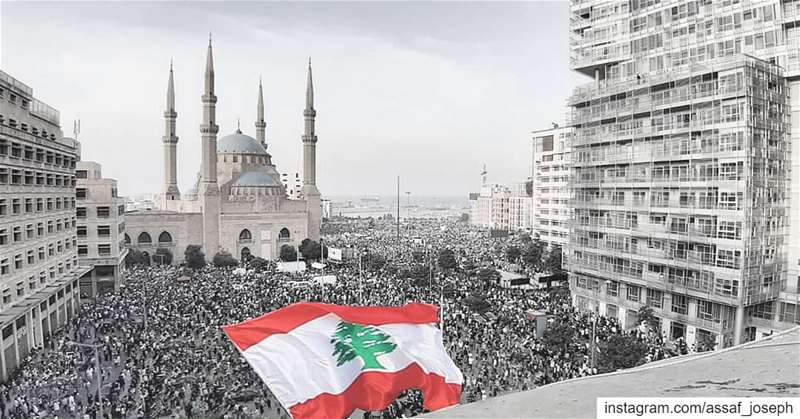 Always with distinction Day 7 لبنان_ينتفض (Martyrs' Square, Beirut)
