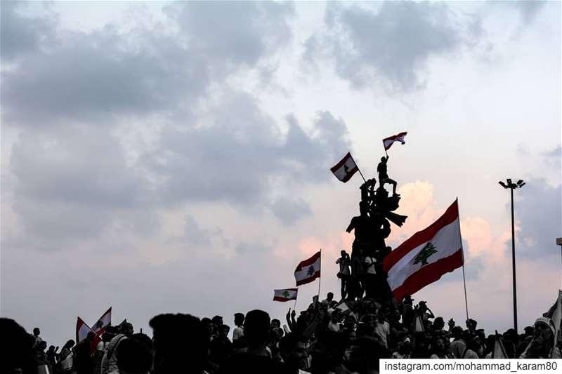 قوم إتحدى الظلم lebanontimes liban libano libanon líbano libanon🇱🇧... (ساحة الشهداء)