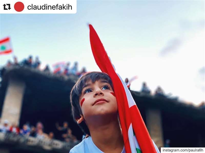 Hope is born again in the faces of children. loveyouprince لبنان_ينتفض ك (Beirut, Lebanon)
