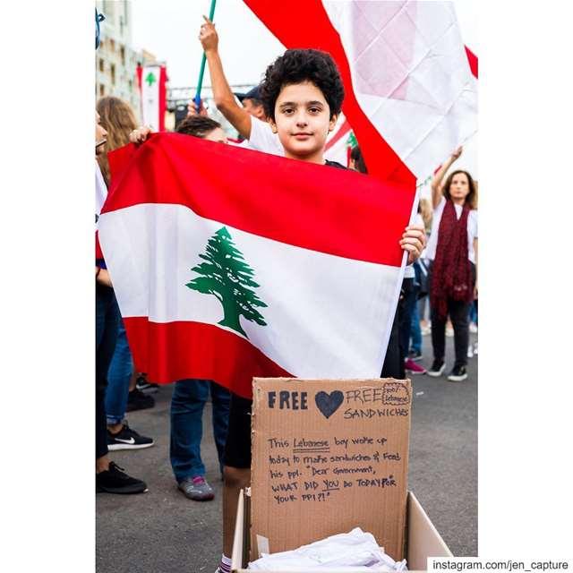 الى كل من يسأل عن الجهة الممولة للثورة.. الجواب هو كل مواطن يطمح بحياة ومست (Martyrs' Square, Beirut)
