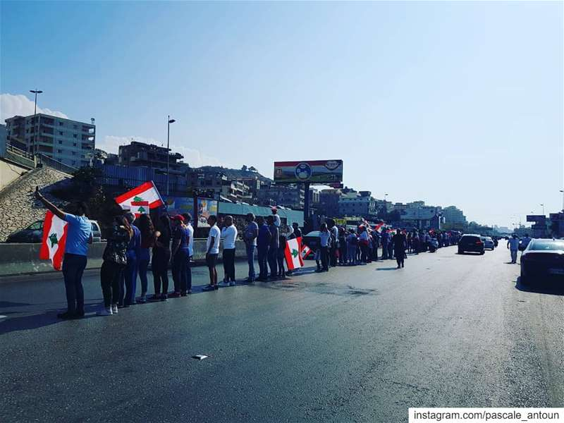 لبنان_ينتفض united we stay. Hopefully all of us will be united for a... (بيروت خلدة)