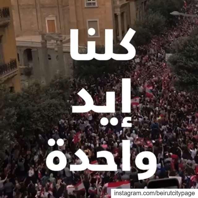 ثورة_لبنان.. انزلوا على الشارع حتى نكون كلنا إيد واحدة لإسقاط النظام.....
