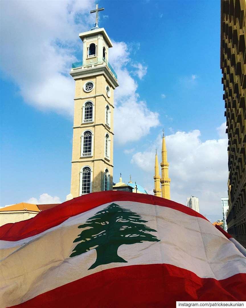 Nov. 17, La Révolution Libanaise. beirut lebanon weekend sunset ... (ساحة الشهداء)