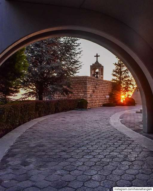 Ehden where sunset is a candle of hope & faith 🙏🏻♥️... (Saydet El Hosn - Ehden)
