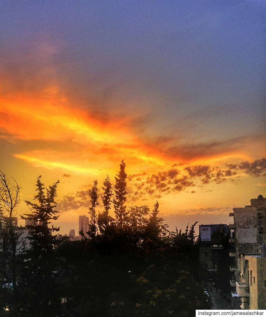 Beautiful sunset Beirut ❤ sunset sunsetlovers livelovebeirut beirut ... (Beirut, Lebanon)