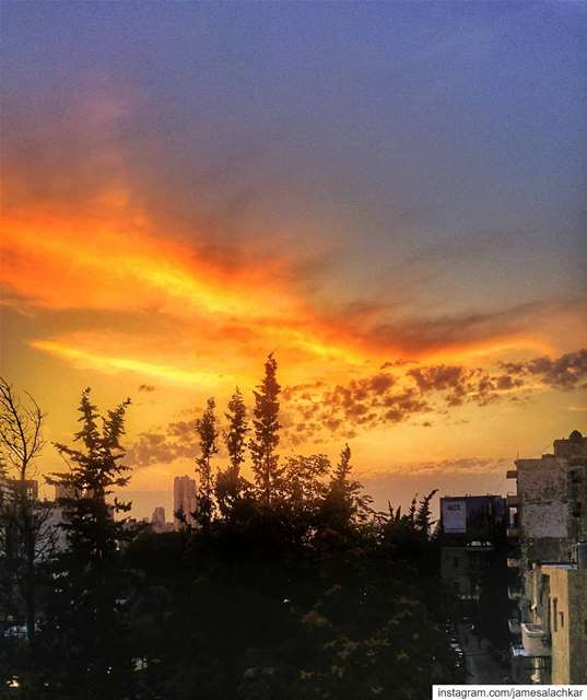 Beautiful sunset Beirut ❤ sunset sunsetlovers livelovebeirut beirut ... (Beirut, Lebanon)