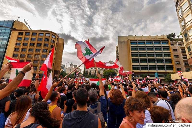 نثق بقدرتنا! نحو لبنان أفضل.. كلنا_للوطن ••• لبنان_ينتفض لبنان ثورة ... (Riad El Solh)