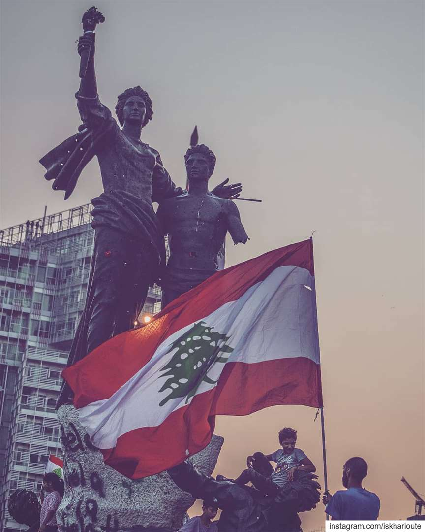 'these are our martyrs: this is our country; and here is where we... (Martyrs' Square, Beirut)