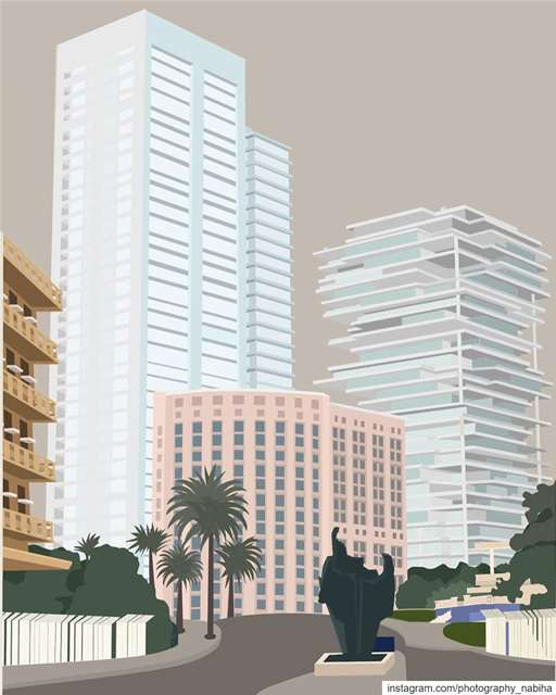 Beirut sketch vs Real applepencil ipadpro art beirut graphicdesign ...