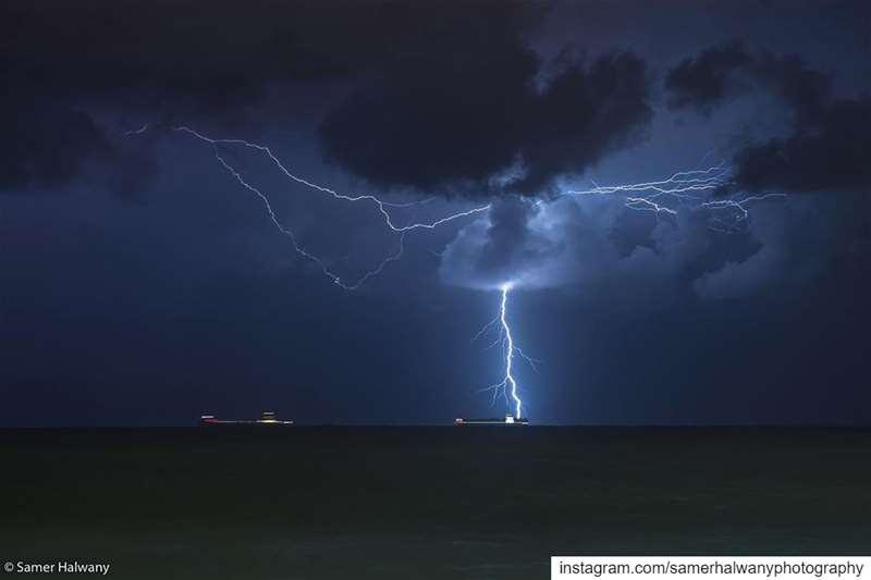 Contact!Taken in beirut lebanon einalmrayse thunder thunderstorm ...