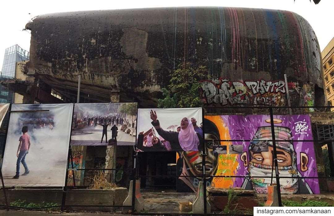 ..... beirut lebanon architecture building graffiti photography... (The Egg)