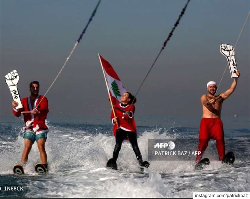 Good morning Beirut. revolution Santa لبنان_ينتفض Lebanon waterskiing...