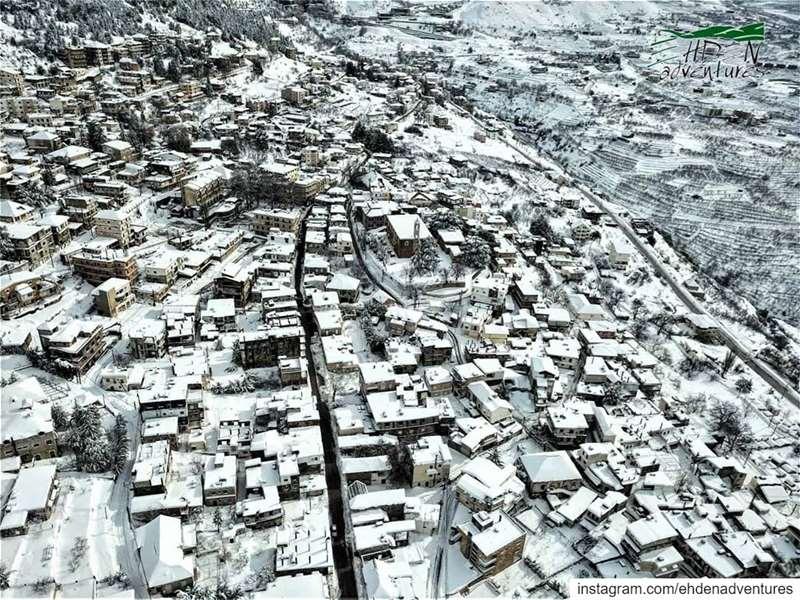 town ehden ehdenadventures lebanon storm snow nature cold ... (Ehden, Lebanon)