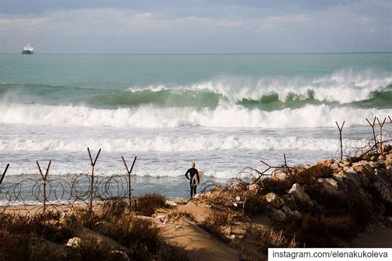 Rainy morning at mustafasaframe @surflebanon⠀ surf surfing ... (Surf Lebanon)